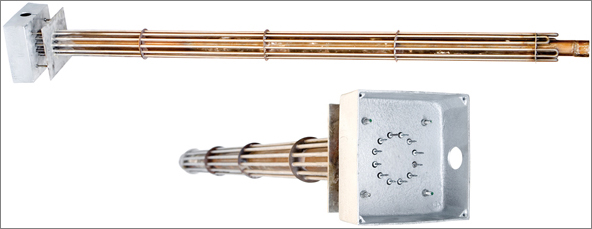 פלנץ' לחימום אוויר עם קופסת חיבורים מוגנת